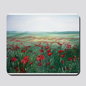 poppy poppies art Mousepad