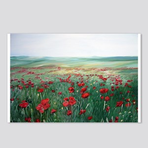 poppy poppies art Postcards (Package of 8)