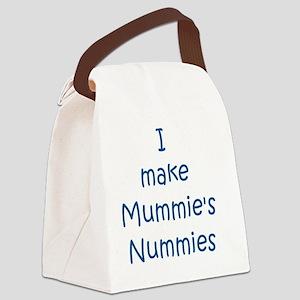 Blue mummies nummies Canvas Lunch Bag