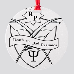 RP Death to Bad Resumes Crest Round Ornament