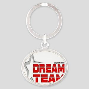 EN Dream Team Logo cafe press black  Oval Keychain