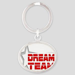 EN Dream Team Logo cafe press copy Oval Keychain