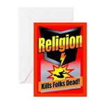 Religion: Kills Folks Greeting Cards (Pack of 6)