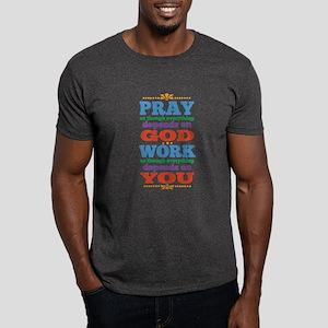God Pray and Depend Dark T-Shirt