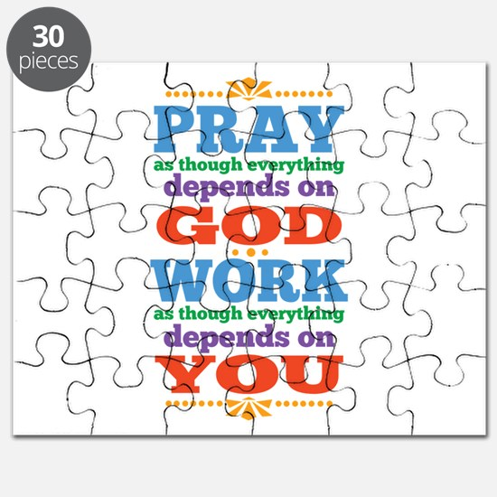God Pray and Depend Puzzle