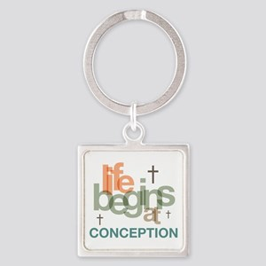 oct_life_conception Square Keychain
