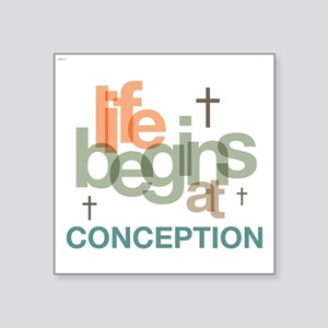 "oct_life_conception Square Sticker 3"" x 3"""