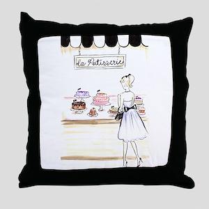 la patisserie Throw Pillow