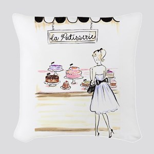 La Patisserie Woven Throw Pillow