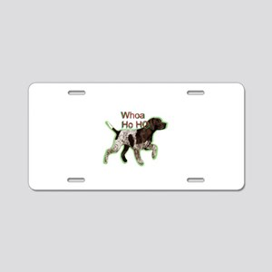 Pointer dog holiday Aluminum License Plate