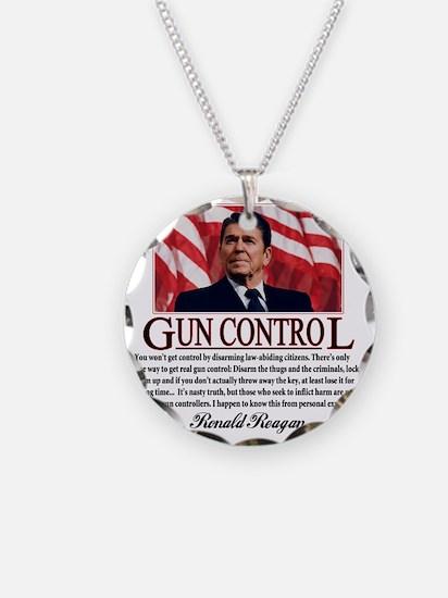 ronald reagan guncontrol Necklace