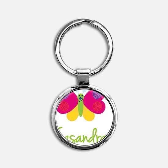 Casandra-the-butterfly Round Keychain