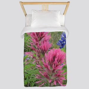 Indian Pinks and Bluebonnets Twin Duvet