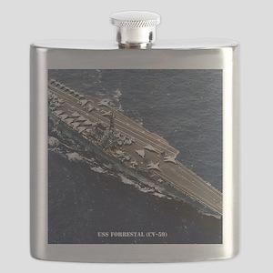 forrestal cv framed panel print Flask