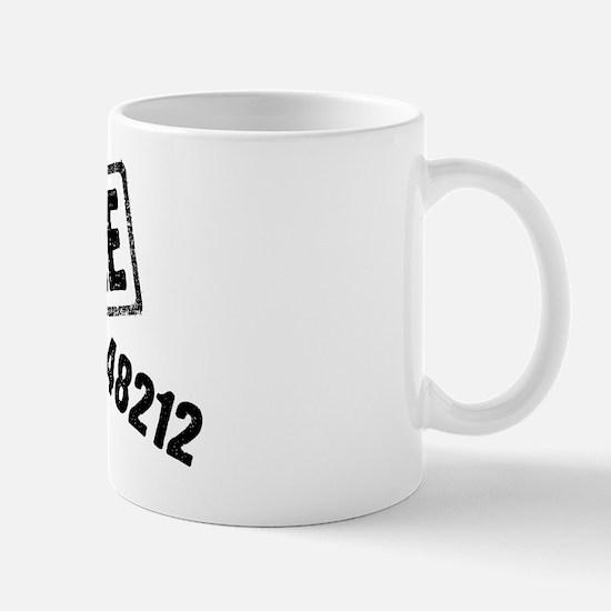 6 Mile 48212 Back Mug