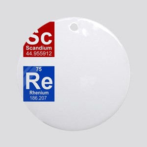 Science is Reality black 2 Round Ornament
