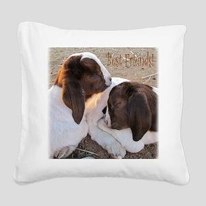 Best Friends! Square Canvas Pillow