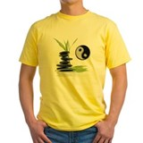 Taoist tai chi hot stones Mens Classic Yellow T-Shirts