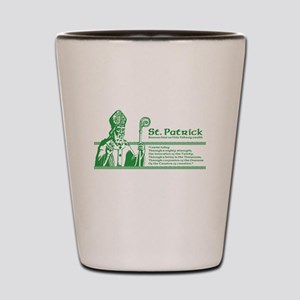 St_Patrick_10x10_white_shirt Shot Glass