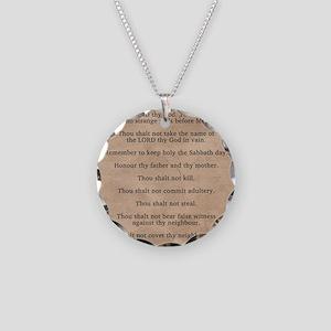 feb11_ten_commandments Necklace Circle Charm