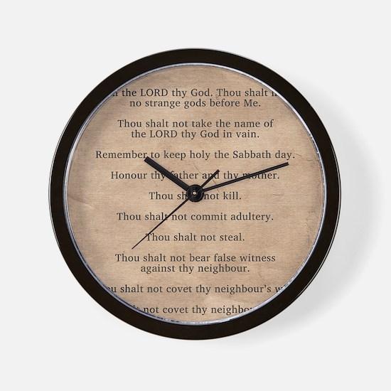 feb11_ten_commandments Wall Clock