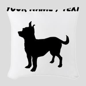 Custom Chihuahua Woven Throw Pillow