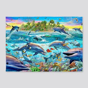 Dolphin Reef 5'x7'Area Rug