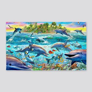 Dolphin Reef 3'x5' Area Rug