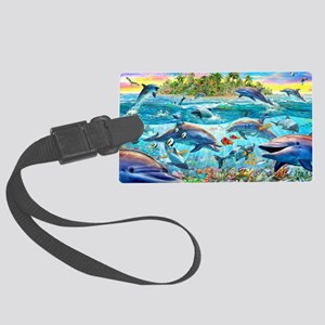 Dolphin Reef Large Luggage Tag