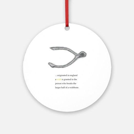 wishbone origin Round Ornament
