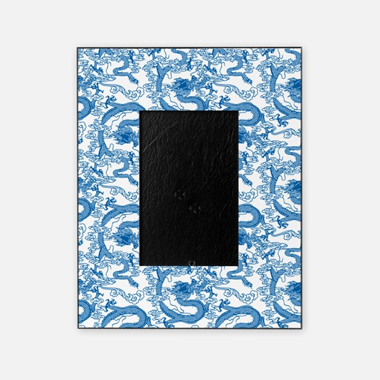 dragon-pattern_blue-tr_13-5x18v Picture Frame