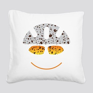 happy mtb Square Canvas Pillow