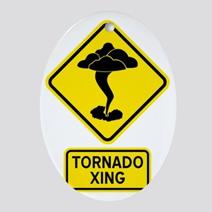 tornadoCrossingCrop Oval Ornament