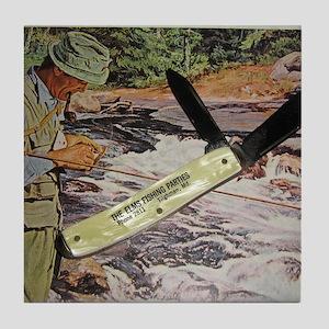 U.S.A. POCKET Knife Colonial (1) Tile Coaster