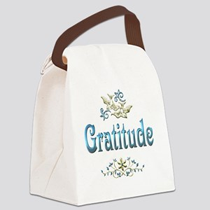 gratitude Canvas Lunch Bag