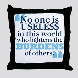 Dickens Useful Life Throw Pillow