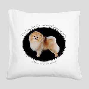 God-PomLight Square Canvas Pillow