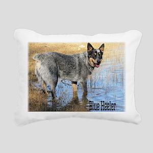 Blue Heeler 2 Rectangular Canvas Pillow