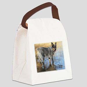 Blue Heeler 2 Canvas Lunch Bag