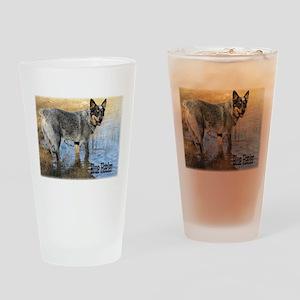 Blue Heeler 2 Drinking Glass