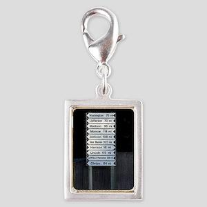 maine directions keychaine Silver Portrait Charm