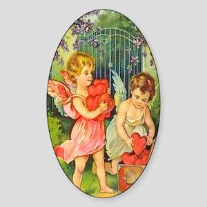 Cupids Heart Box Sticker (Oval)