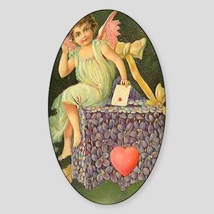 Cupids Letter Sticker (Oval)
