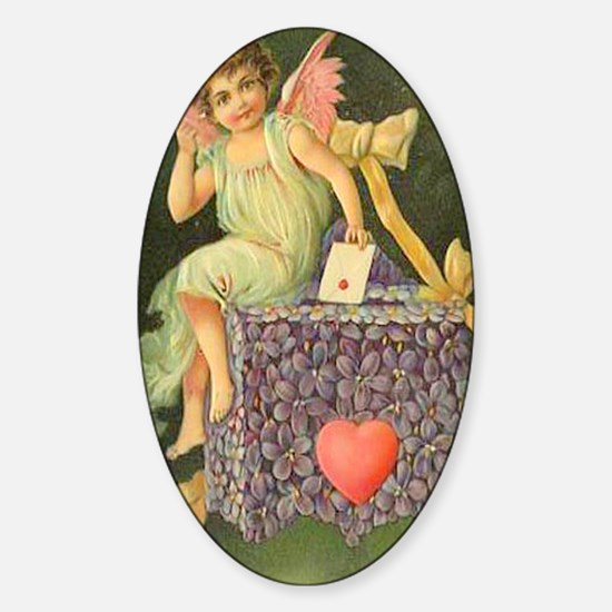 Cupids Letter Sticker (Oval)