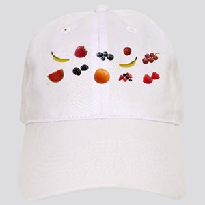 Design - EAT FRUITS with logo- 8x3in Cap