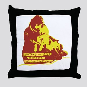 give me tired ready Throw Pillow