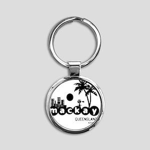 mackayblack Round Keychain