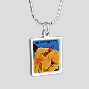 snoopy-the-nosey-little-pu Silver Square Necklace