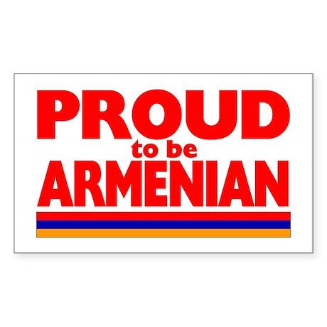 PROUD ARMENIAN Rectangle Sticker