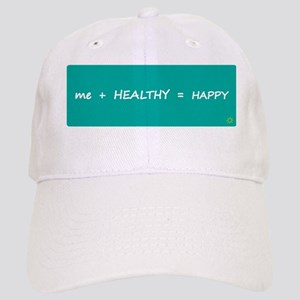 Design - HAPPY MATH rounded corners - 8x3in Cap